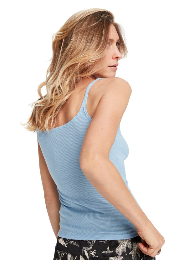 Square Neck Tank Top - Powder Blue