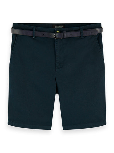 Stretch Cotton Chino Shorts - Amalfi Green