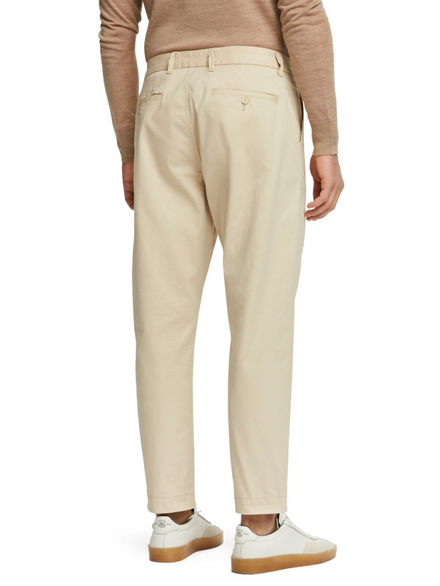 Fave - Twill Chinos | Regular Tapered Fit - Sand 32""