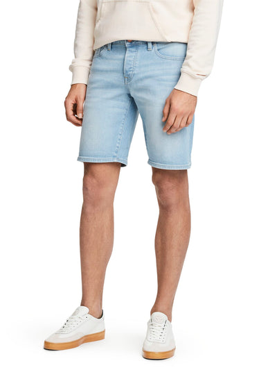 Ralston Short - Paint in Blauw | Regular slim fit - Paint it Blauw