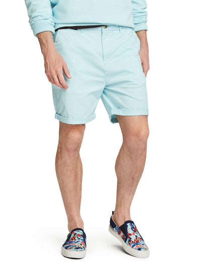 Pima Cotton Chino Shorts - Blue
