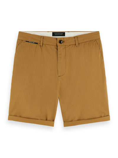Pima Cotton Chino Shorts - Walnut