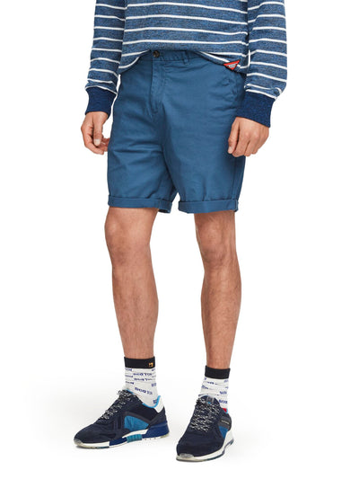 Pima Cotton Chino Shorts - Worker Blue