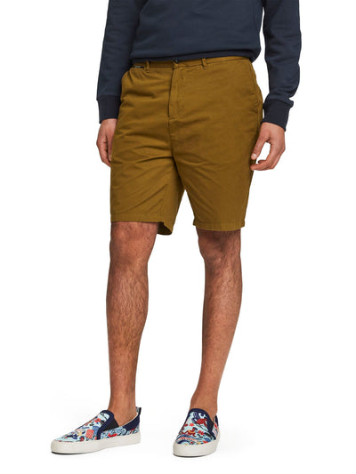 Pima Cotton Chino Shorts - Utility Green