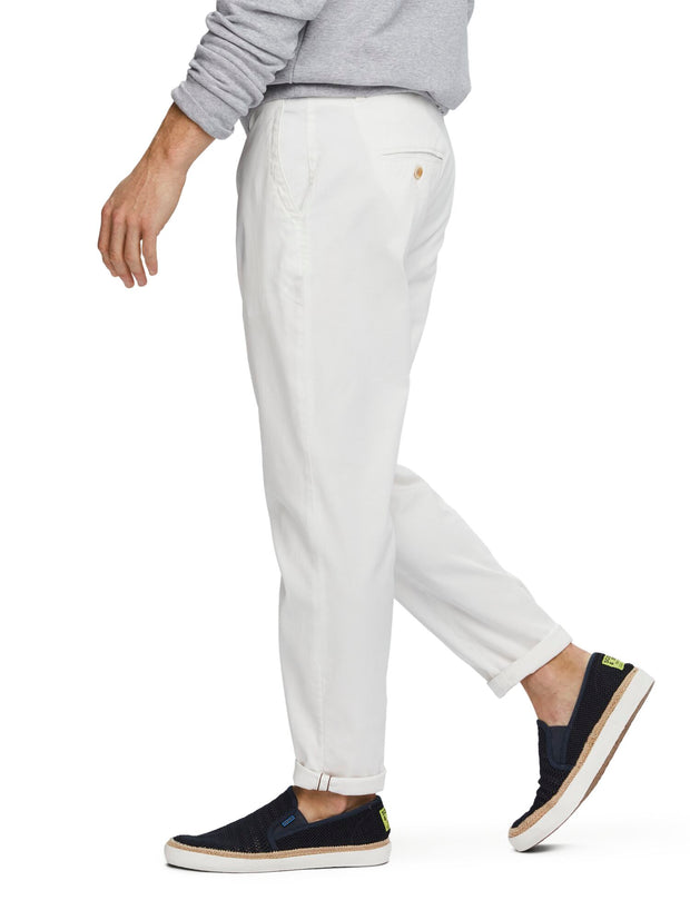 Fave - Structured Chinos | Regular tapered fit - Denim White 32""