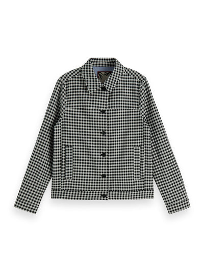 Checked Trucker Jacket - Combo N