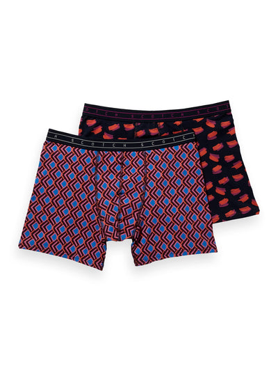2-Pack Patterned Boxer Shorts - Combo D
