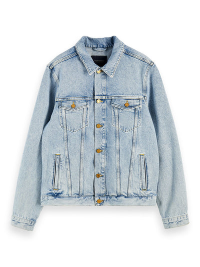 Cotton Denim Trucker Jacket - Street Beach