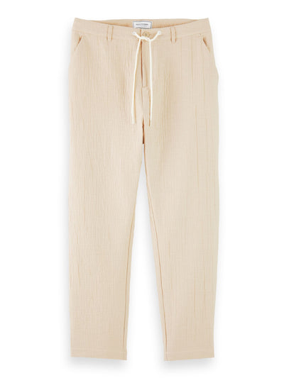 Mid-Rise Drawstring Travel Pants - Sand