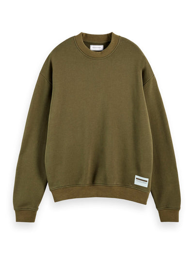 Boxy Fit Sweatshirt - Military Green