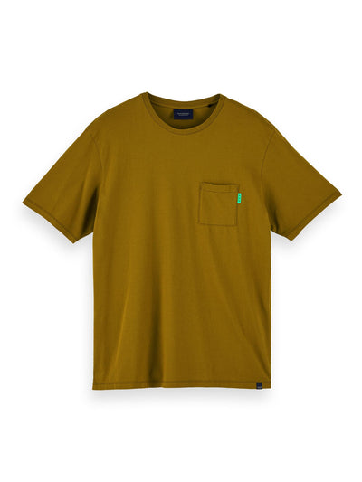 100% Cotton Short Sleeve Pocket T-Shirt - Military Green