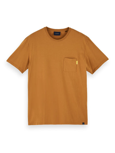 100% Cotton Short Sleeve Pocket T-Shirt - Tobacco