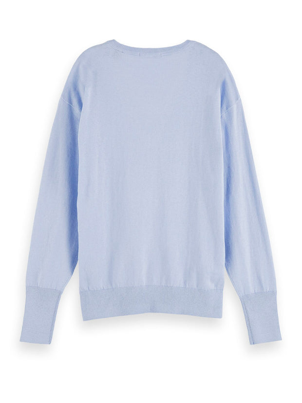 Cotton-Cashmere Pullover - Sky Blue