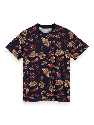 Printed Crew Neck T-Shirt - Combo D