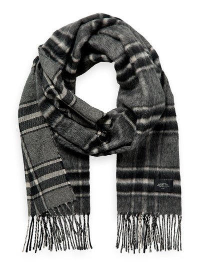 Fluffy Wool-Blend Scarf - Combo A