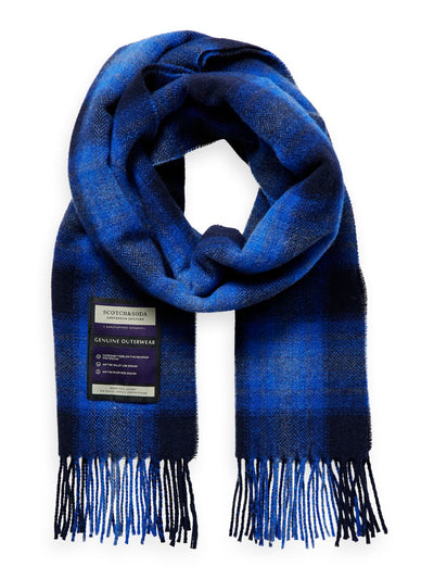 Soft Wool-Blend Checked Scarf - Combo A