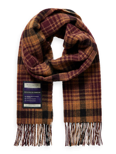 Soft Wool-Blend Checked Scarf - Combo B