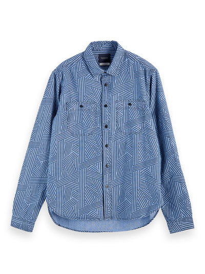 Cotton Chambray Workwear Shirt - Combo A