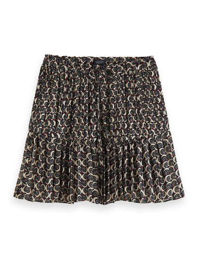 Pleated Mini Skirt With All-Over Print - Combo F