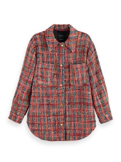 Wool-Blend Tweed Shirt Jacket - Combo Q