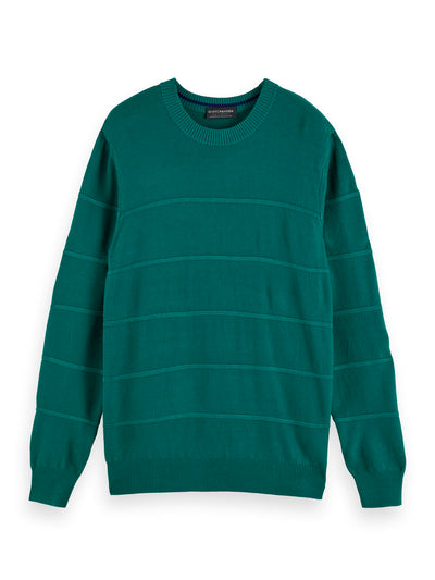 Classic Wool Cotton-Blend Pullover - Glacier Green
