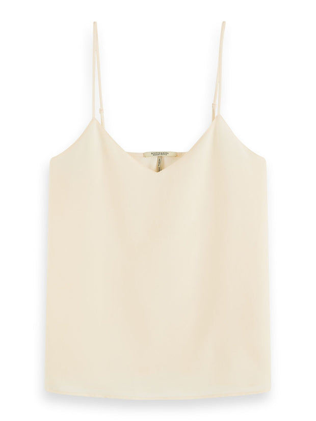 V-Neck Camisole Tank Top - Off White