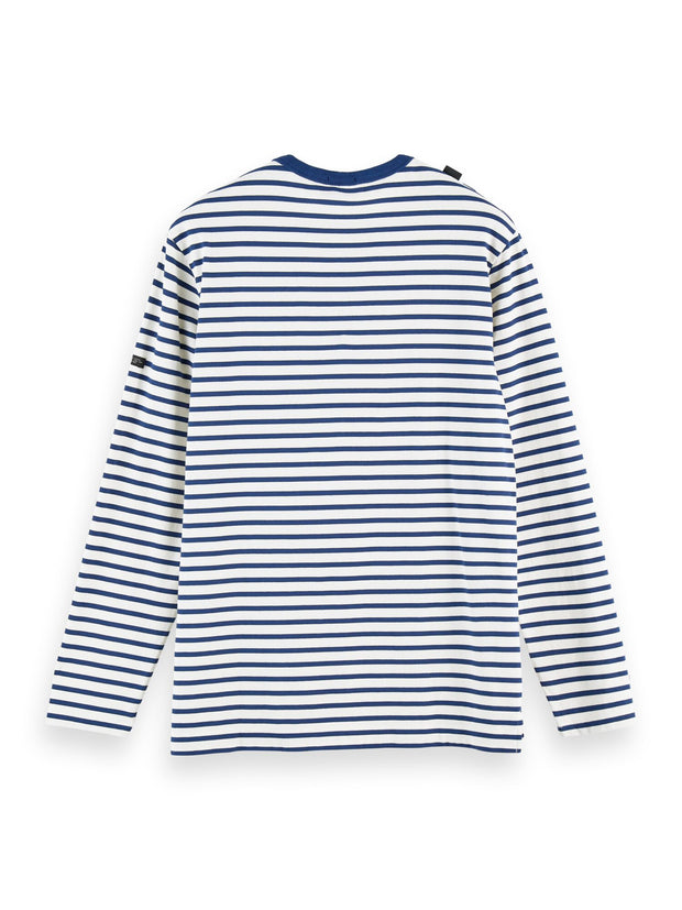Striped Long Sleeve Cotton T-Shirt - Combo C