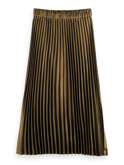 Pleated Midi Skirt - Military