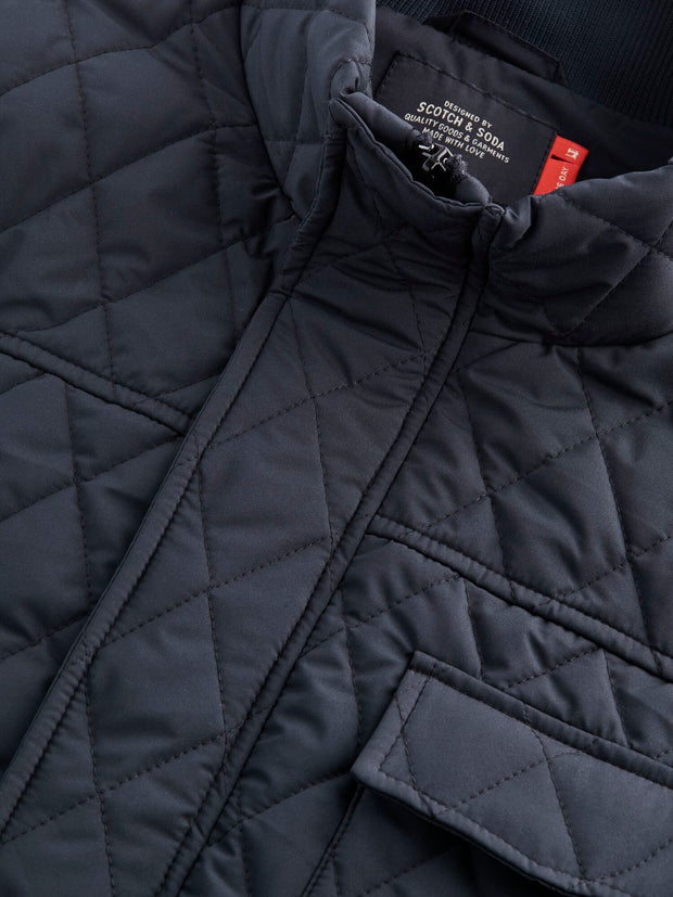 Shorter Length Quilted Jacket - Night