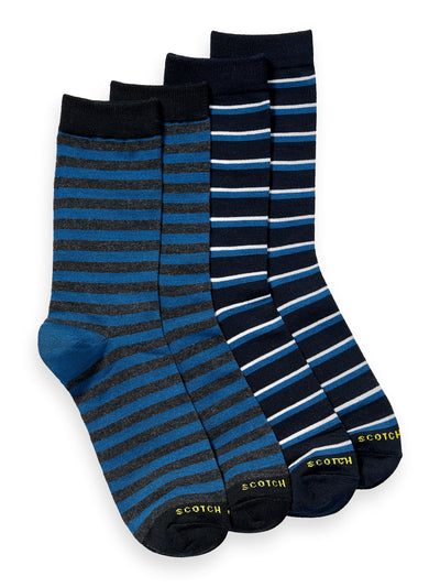 2-Pack Cotton-Blend Patterned Socks - Combo B