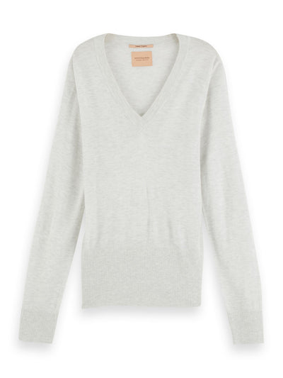 Lightweight Knit With Fitted Waist - Grey Melange