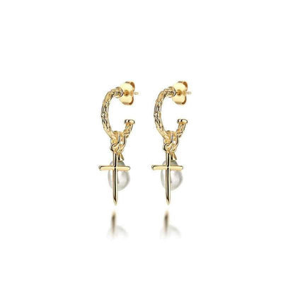 Coolio Earrings Freshwater Pearl