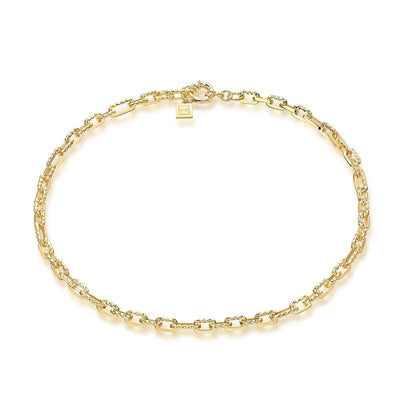 Ramones Hammered Chain Necklace - 18K Gold