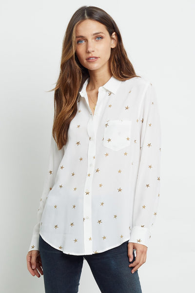 Kate - Silk Ivory Animal Stars