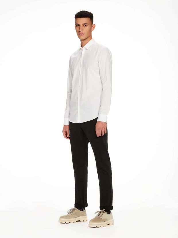 Scotch & Soda Classic Long Sleeve Shirt - White