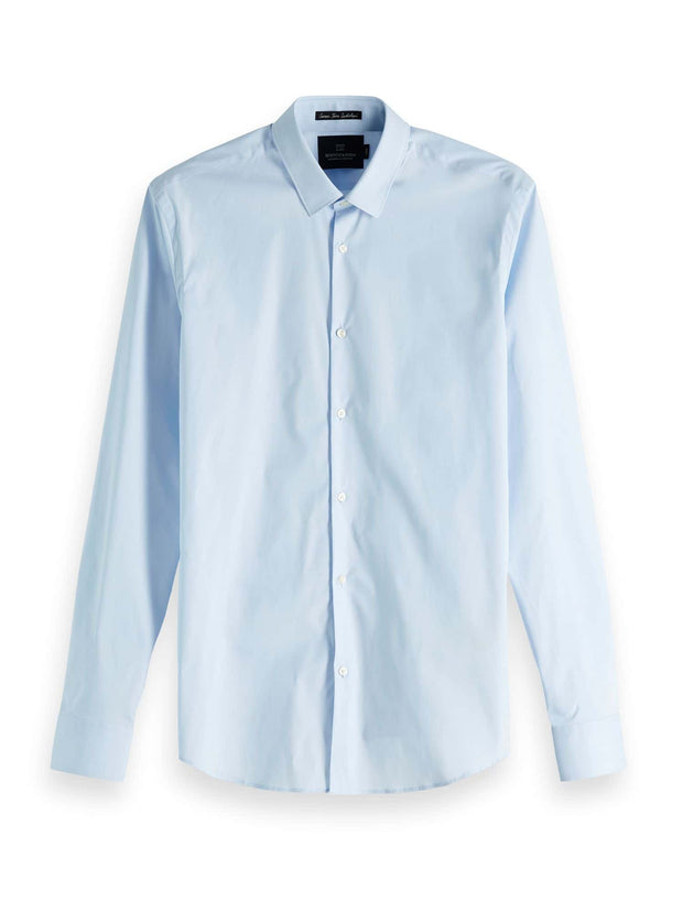 Scotch & Soda Classic Long Sleeve Shirt - Blue