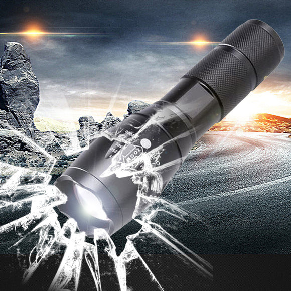 Tactical Aluminum Waterproof Zoomable CREE LED Flashligh 18650 Rechargeable Battery or AAA