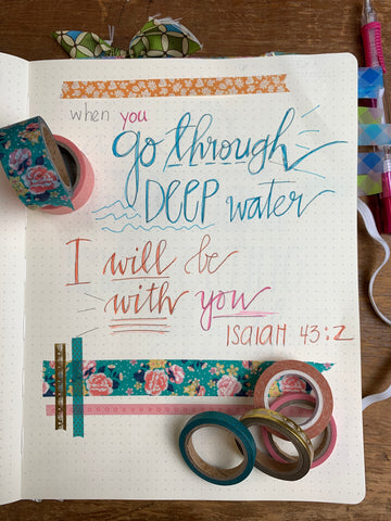 5 Steps to Bible Journaling for Beginners Step By Step Hand Lettering   Pam Coxwell From the Heart Art