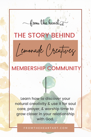 Why I Created Lemonade Creatives Monthly Membership for Bible Journaling | Pam Coxwell From the Heart Art
