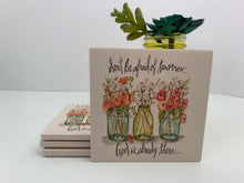 3 Jars - Ceramic Coasters - Set of 4
