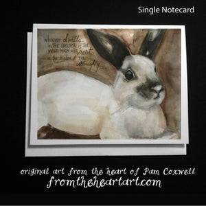 "Bunny ""Rest"" {Ps.91:1} - Notecards"
