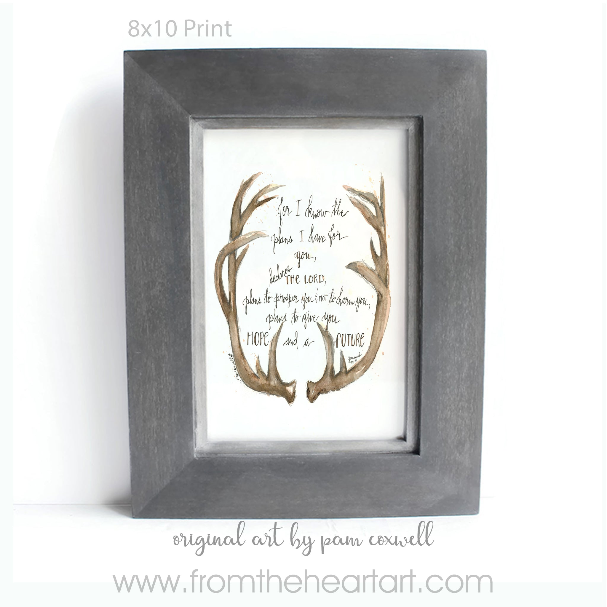 Deer Antlers From The Heart Art