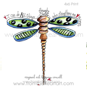 "Dragonfly: Green ""All Things"" {Phil 4:13}"