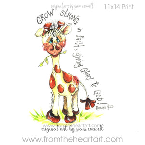 Jungle: Giraffe Print (Romans 4:20)(Farewell)
