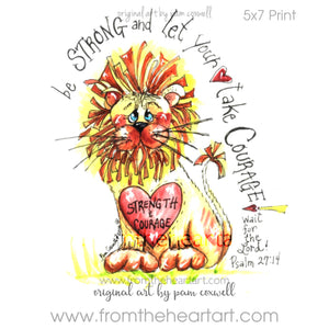 Jungle: Lion Print {Psalm 27:14}(Farewell)