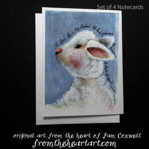Lamb Blue {Psalm 23} - Notecards