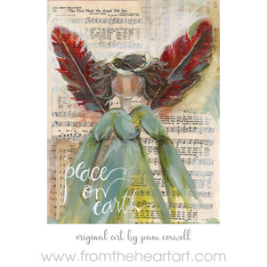Christmas Hymnal - Angel - Ornament