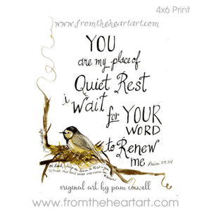Quiet Rest {Psalms 119:114}
