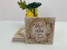Bless Home - Love - Ceramic Coasters - Set of 4