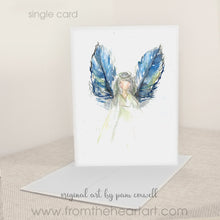 Feather Angel - Blue Wings